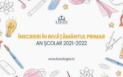 Începem înscrierile în îvățământul Primar – An școlar 2021-2022